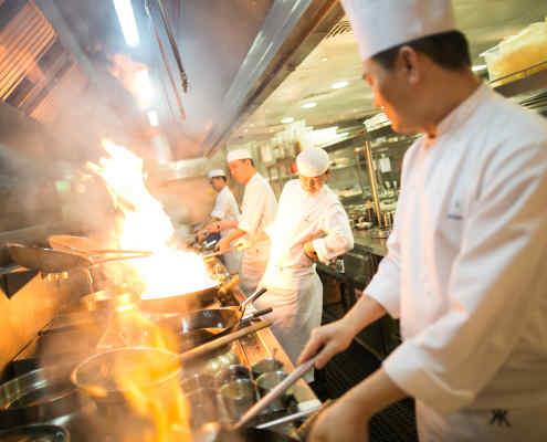 Hakkasan Chefs in Kitchen