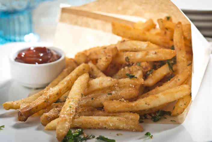 Duck Fat Fries with Ketchup