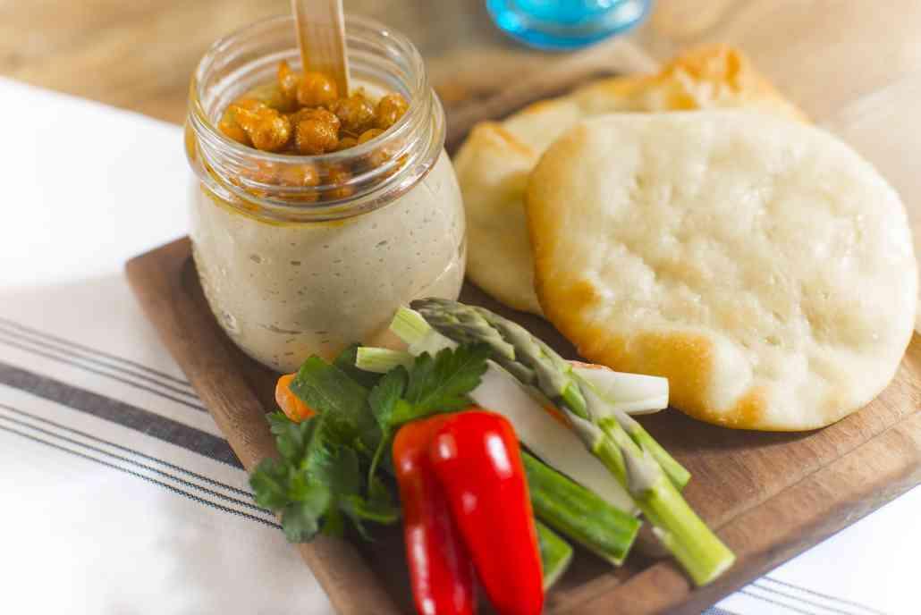 Hummus and Pita Chips and Veggies