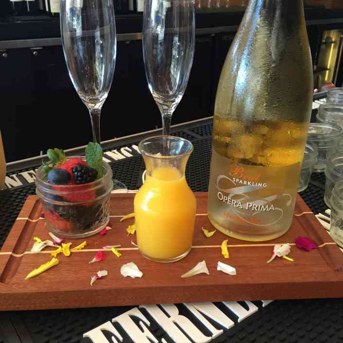 Mimosas with Fruit