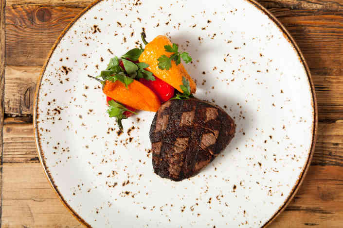 Petite Filet with Peppers