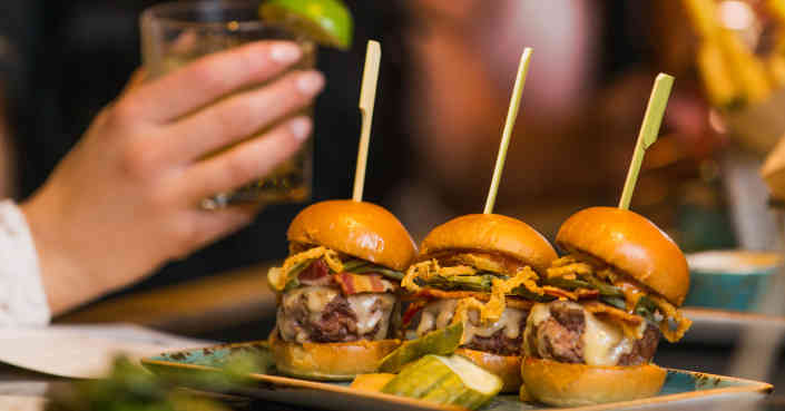 Cheeseburger Sliders with Pickles