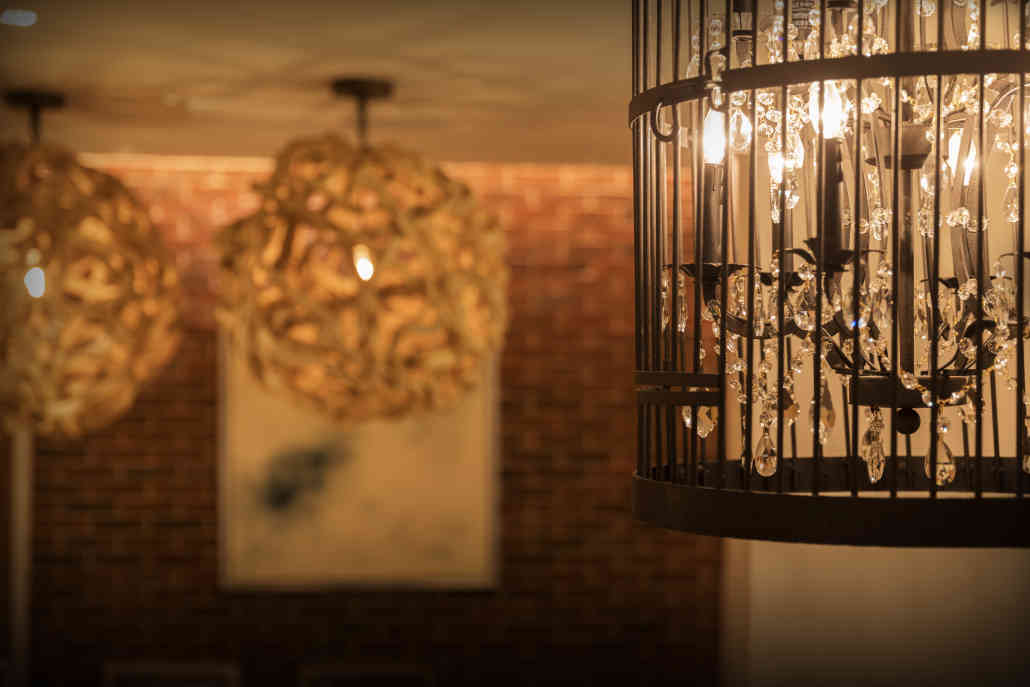 Chandelier in Cage