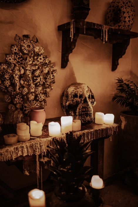Calavera Skulls with Candles
