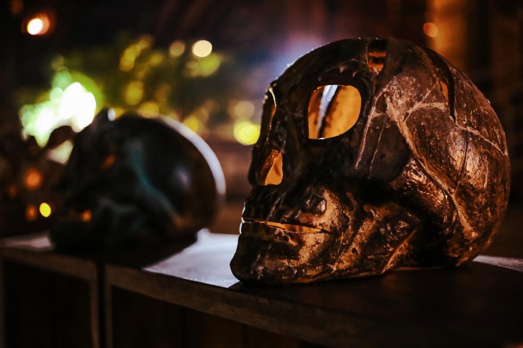 Lit up Skulls