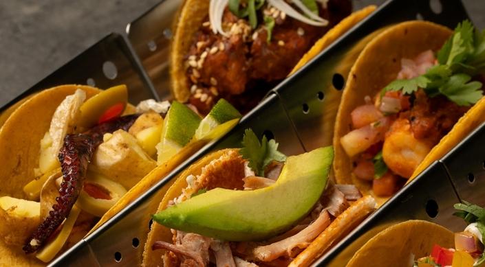 Upclose Various Tacos