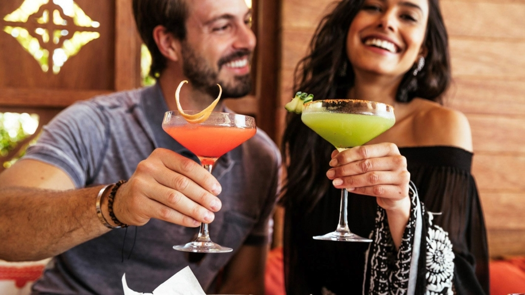 Couple Cheersing with Margaritas