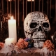 Painted Skull with Candles
