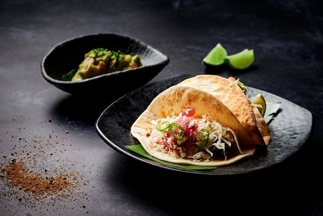 El Rey Taco with Guacamole
