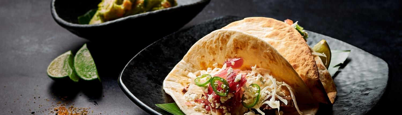 El Rey Taco with Guacamole with Lime