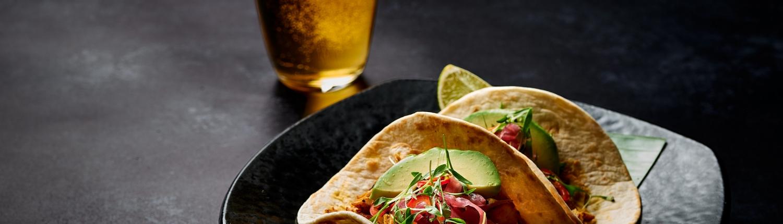 La Calavera taco with Beer