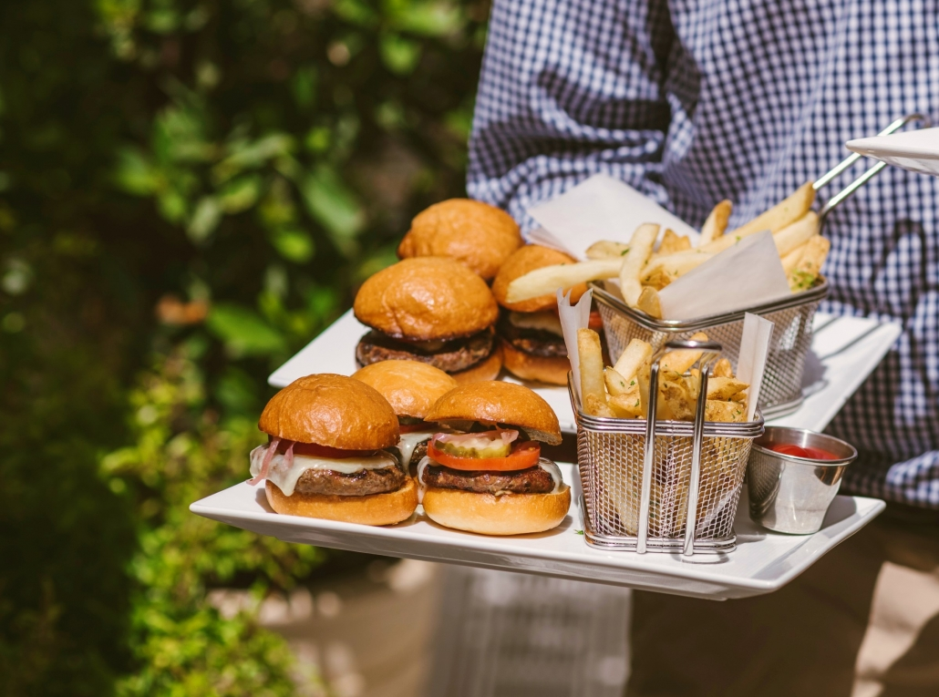 Hamburgers with French Fries