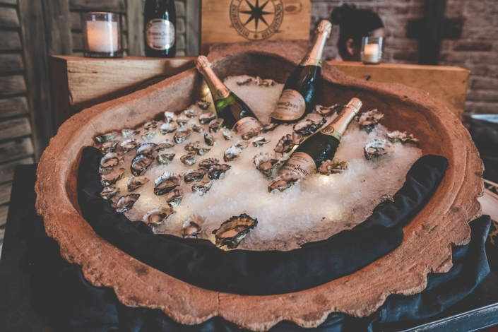 Oysters and Champagne on ice