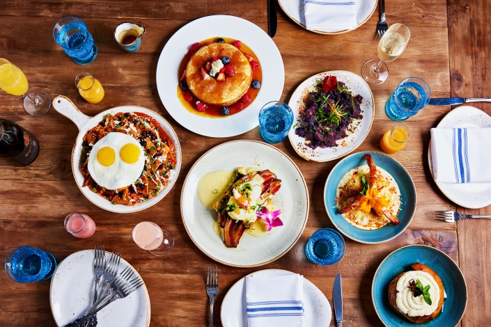 Various Brunch Dishes