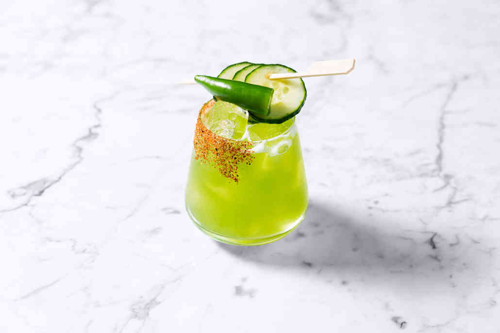 That's One Hot Cucumber Cocktail