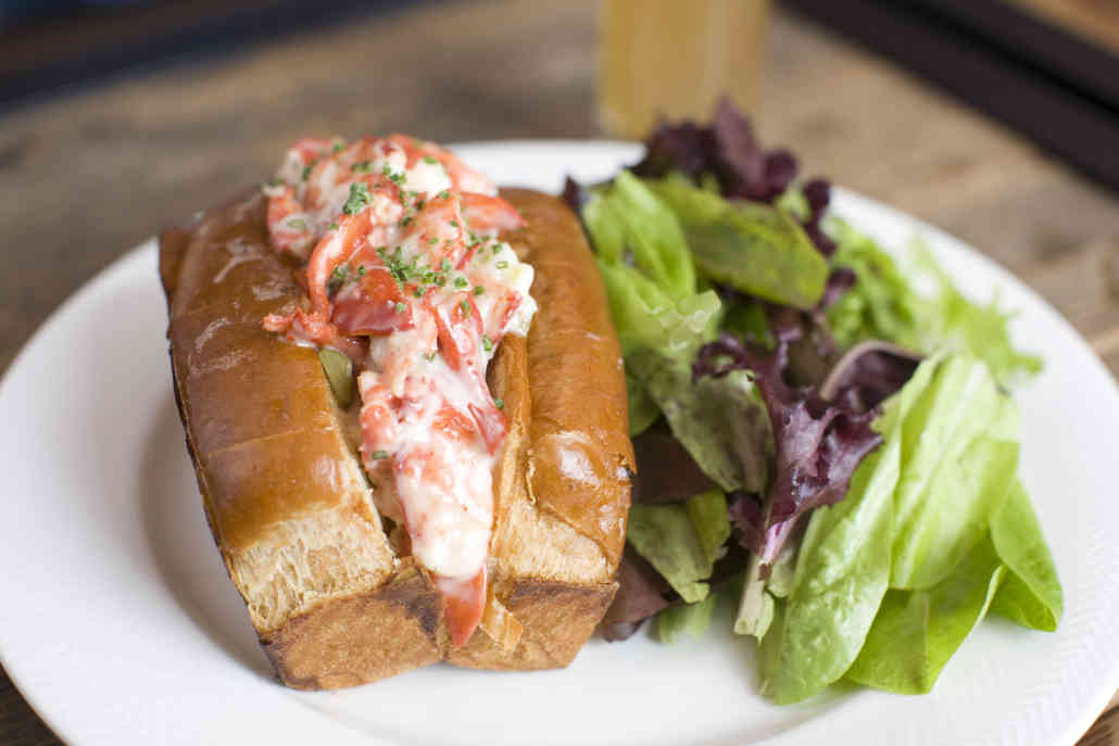 Lobster Roll with Salad